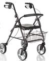 Picture of Deambulatori Rollators 4 ruote piegevole con seduta imbottita in acciaio verniciato - Mopedia Cod. RP520