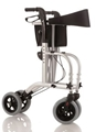 Picture of Deambulatori Rollators 4 ruote piegevole con doppia funzione in acciaio verniciato - Mopedia Cod. RP525