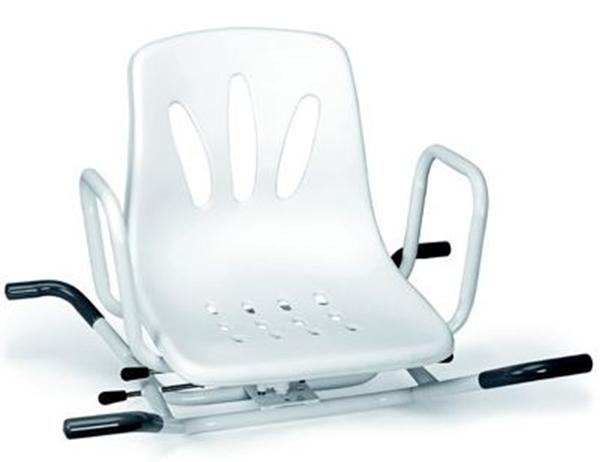 Picture of Sedili per la vasca girevoli in acciaio verniciato bianco con 2 battute laterali di sicurezza - Mopedia Cod. RS936