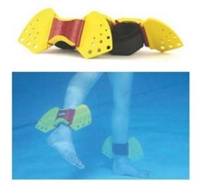 Immagine di Riabilitazione idroterapia due polsiere cavigliere con pinne Aquafins  - Mediland cod. 305152