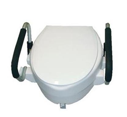 Immagine di Rialzo per WC con braccioli ribaltabili- Mediland