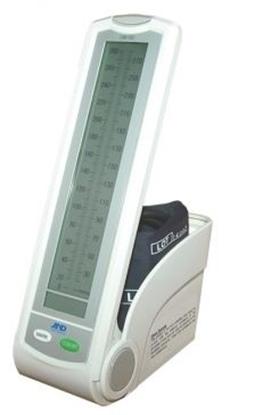 """Immagine di Sfigmomanometro """"ibrido"""" modello da tavolo, studio medico o su stativo a rotelle - Intermed - cod. UM-102B"""