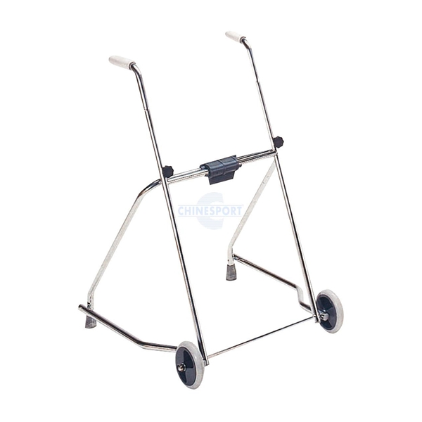 Picture of Deambulatori per adulti pieghevole con due ruote e due puntali Cromato - Chinesport 42240