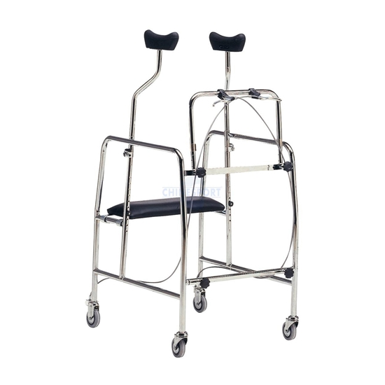 Picture of Deambulatori per adulti quattro ruote due piroettanti WALKER AF - Chinesport 08686