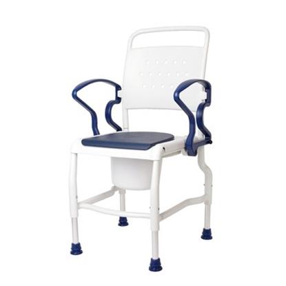 Immagine di Sedie toilette con sedile imbottito e foro KIEL - Chinesport 01812