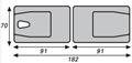 Picture of Lettini da esami e trattamenti in alluminio a due sezioni pieghevole GRANADA - Chinesport 01414