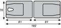 Picture of Lettini da esami e trattamenti in legno a due sezioni pieghevole testa con sezione mobile - Chinesport
