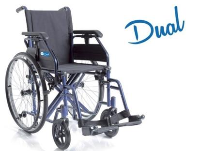 Immagine di Carrozzina pieghevole autospinta - DUAL - seduta da 38cm a 50cm - ARDEA CP200-xx