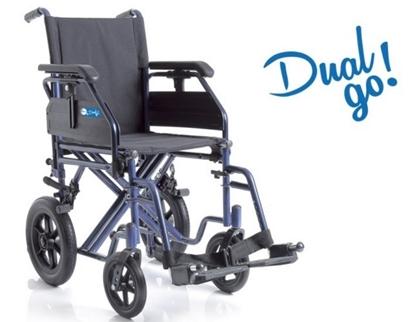 Immagine di Carrozzina Pieghevole Transito - Dual Go! - Seduta da 38cm a 50cm - Ardea