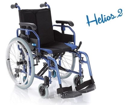 Immagine di Carrozzina pieghevole - HELIOS 2 - seduta 40 a 50 cm - ARDEA CP760-xx