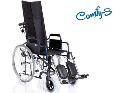 Immagine di Carrozzina pieghevole ad autospinta - Schienale reclinabile - seduta da 40cm a 46cm- COMFY-S - ARDEA CP800-xx