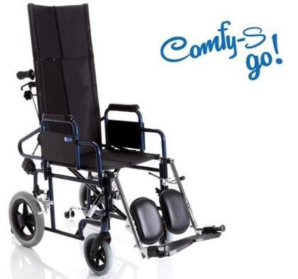 Immagine di Carrozzina pieghevole ad autospinta - Schienale reclinabile - seduta da 40cm a 46cm- COMFY-Go- ARDEA CP805-xx