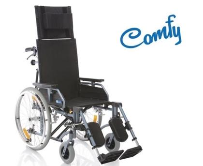 Immagine di Carrozzina pieghevole ad autospinta - Schienale reclinabile - seduta da 40cm a 46cm- COMFY- ARDEA CP805-xx