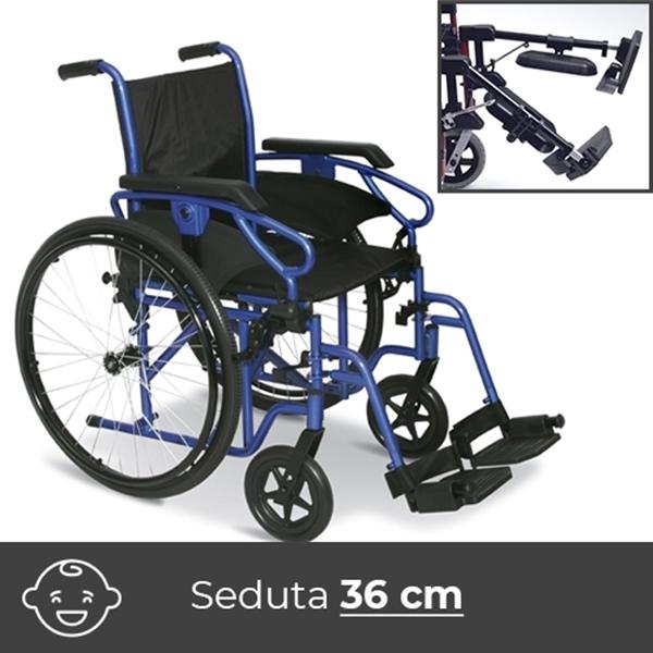 Noleggio sedia a rotelle per bambini con alzagambe